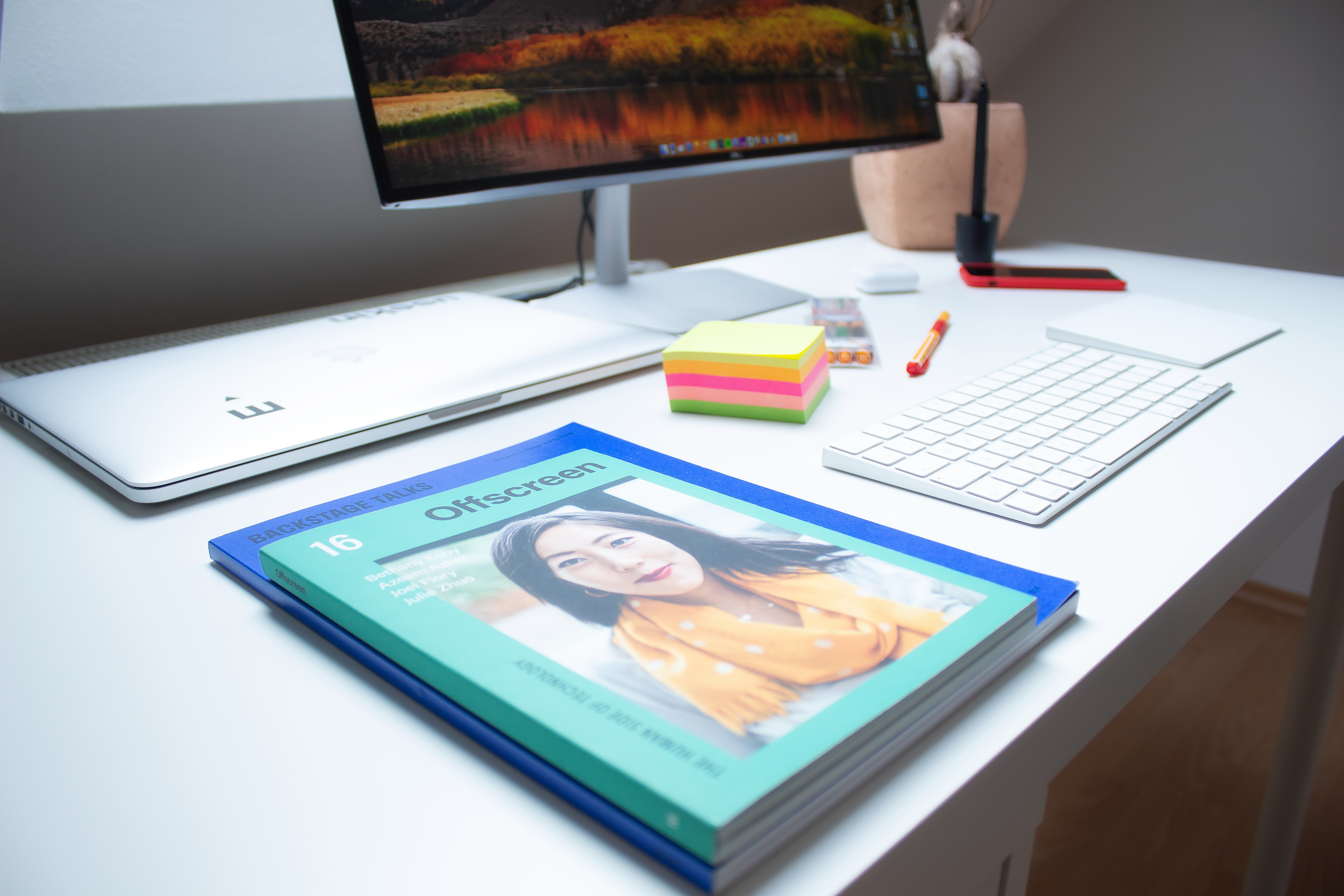 A tablet with magazine content